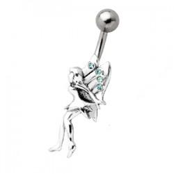 Piercing nombril fée 05 - Bleu-clair