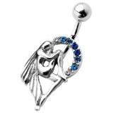 Piercing nombril fée 23 - Cercle strass bleus