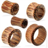 Tunnel courbe en bois de palmier