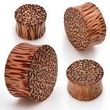 Plug courbe en bois de palmier