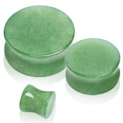 Plug courbe en aventurine jade