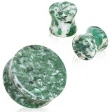 Plug courbe en jade africaine