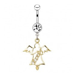 Piercing nombril ange 10 - Jaune