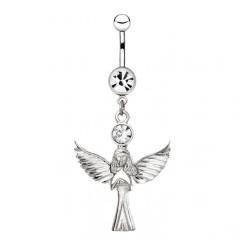 Piercing nombril ange 13 - Debout ailes déployées