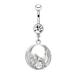 Piercing nombril ange 17 - Cercle et strass