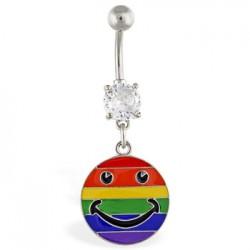 Piercing nombril Gay pride 09 - Smiley