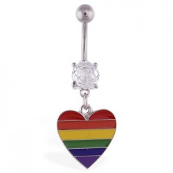 Piercing nombril Gay pride 10 - Coeur
