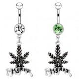 Piercing nombril cannabis 05 - Marijuana