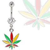 Piercing nombril cannabis 25 - Jamaique