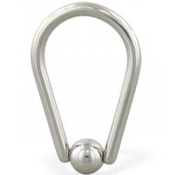 Piercing anneau 1,6mm 17 - Ovale