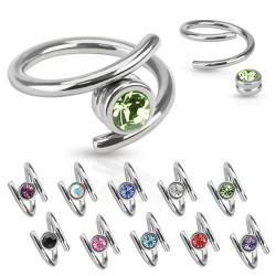 Piercing anneau 1,6mm 19 - Style twister