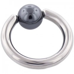 Piercing anneau 1,6mm 26 - Hématite