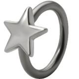 Piercing anneau 1,6mm 100 - étoile