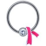Piercing anneau 1,6mm 103 - Ruban rose
