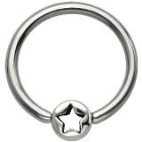 Piercing anneau 1,6mm 111 - étoile cercle