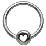 Piercing anneau 1,6mm 112 - Coeur cercle