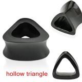 Tunnel courbe en corne triangulaire