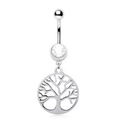 Piercing nombril arbre de vie (D84)