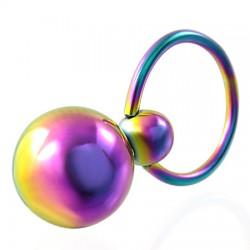 Piercing micro-bcr 84 - Deux boules rainbow