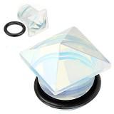 Plug pierre opalescente o-ring carré