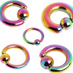 Piercing anneau PVD rainbow 02 à 06mm