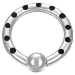 Piercing anneau en acier points noirs 03mm