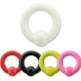 Piercing anneau acrylique UV unicolore 03 à 06mm