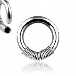 Piercing en acier anneau ressort 2 à 3mm
