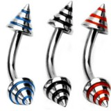 Piercing arcade 35 - Métal pointes striées