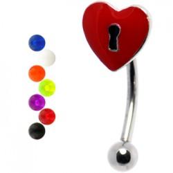 Piercing arcade 45 - Coeur et serrure