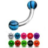 Piercing pour arcade acry 03 - UV basket boules