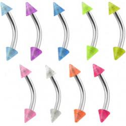 Piercing pour arcade acry 18 - Fluorescent pointes
