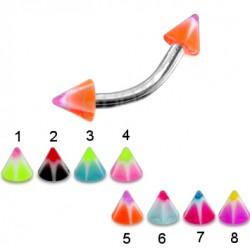 Piercing pour arcade acry 27 - UV étoile pointes