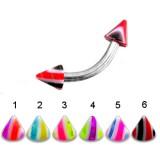 Piercing pour arcade acry 35 - UV pointes striées