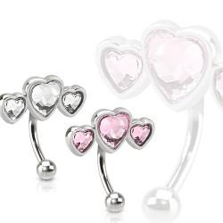 Piercing arcade 11 - Triple coeur