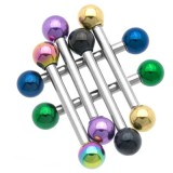Piercing micro-barbell 56 - PVD et acier boules