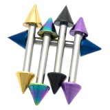 Piercing micro-barbell 57 - PVD et acier pointes