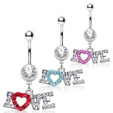 Piercing nombril coeur 17 - Love