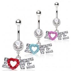 Piercing nombril coeur 17 - Love