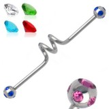 Piercing industriel 53 - Vrillé multistrass