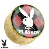 Plug courbe Playboy en bois D