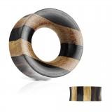 Tunnel courbe en bois traits noirs