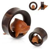 Tunnel courbe en bois avec dauphin