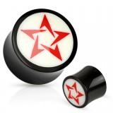 Plug courbe en corne étoile rouge