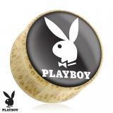Plug courbe en bois Playboy fond noir
