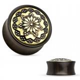 Plug courbe bois fleur couleur bronze