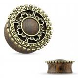 Plug courbe en bois cercle couleur bronze