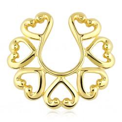 Faux-piercing pour téton 08 - Gold-ip coeurs