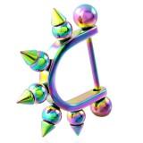 Bouclier de téton 04 - Rainbow boules pointues