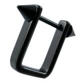 Bouclier de téton 10 - Noir rectangulaire